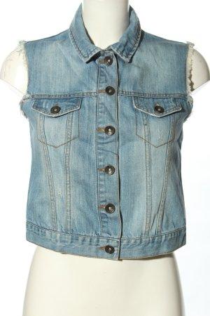 Pimkie Gilet en jean bleu style décontracté