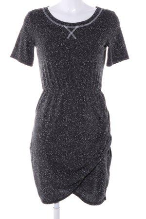 Pimkie Abito jersey nero-bianco puntinato stile casual