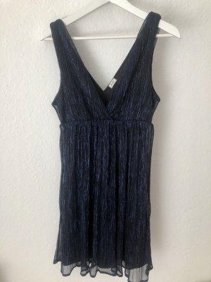 Pimkie Kleid Sommerkleid Cocktailkleid Glitter Schwarz Blau Gr. XS