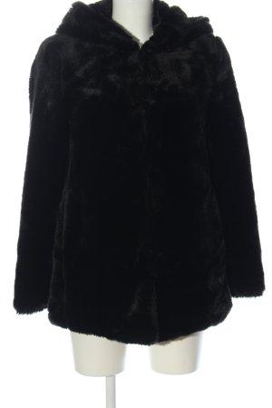 Pimkie Kurtka ze sztucznym futrem czarny Elegancki