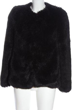Pimkie Fake Fur Jacket black elegant