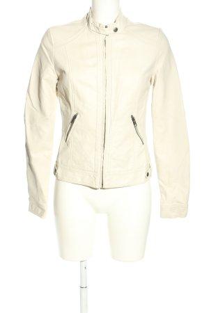 Pimkie Kurtka z imitacji skóry w kolorze białej wełny W stylu casual