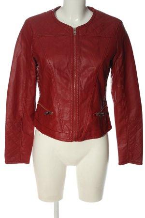 Pimkie Kurtka z imitacji skóry czerwony Pikowany wzór W stylu casual