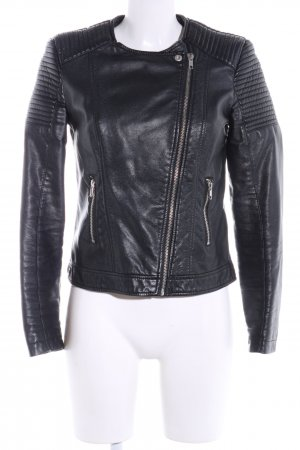 Pimkie Faux Leather Jacket black casual look