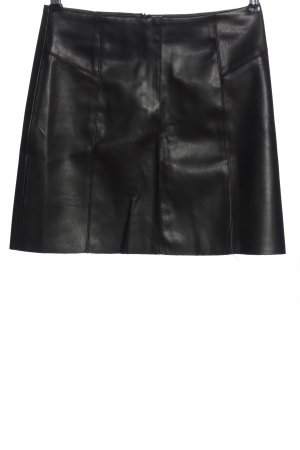 Pimkie Spódnica z imitacji skóry czarny W stylu casual