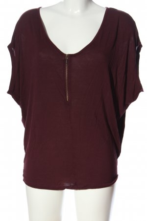 Pimkie Kurzarm-Bluse rot Casual-Look