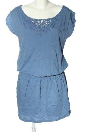 Pimkie Kurzarmkleid blau meliert Casual-Look