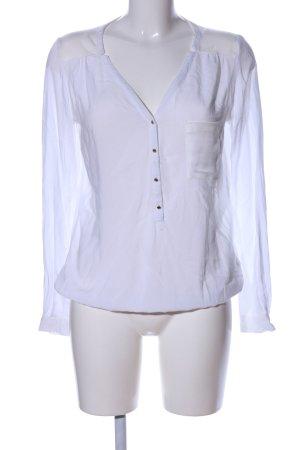 Pimkie Langarm-Bluse weiß Elegant