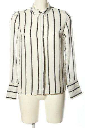 Pimkie Langarm-Bluse weiß-schwarz Streifenmuster Business-Look