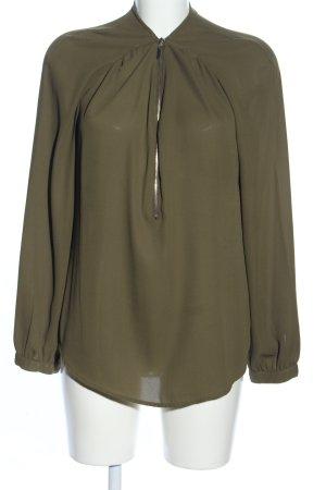 Pimkie Langarm-Bluse khaki Business-Look