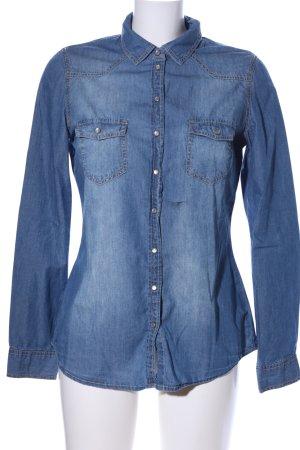 Pimkie Langarmhemd blau Casual-Look