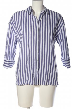 Pimkie Langarmhemd blau-weiß Streifenmuster Business-Look