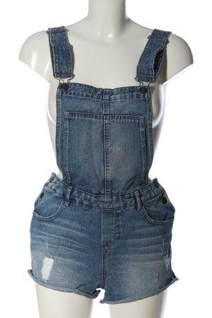 Pimkie Bib Shorts blue street-fashion look
