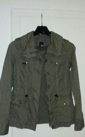 Pimkie Oversized Jacket khaki cotton