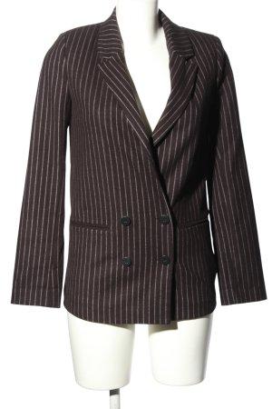 Pimkie Lange blazer bruin gestreept patroon zakelijke stijl