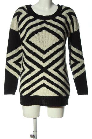 Pimkie Jersey largo negro-blanco puro estampado gráfico look casual