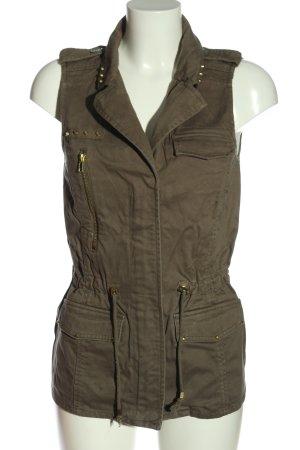 Pimkie Gilet long tricoté brun style décontracté