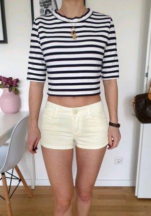 Pimkie low waist Shorts XXS XS 32 34 gelb Hot Pants Röhre Jeansshorts Hose Neu