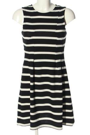 Pimkie Minikleid schwarz-weiß Streifenmuster Casual-Look