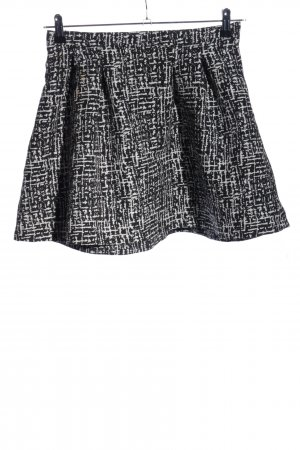Pimkie Minirock schwarz-weiß abstraktes Muster Casual-Look