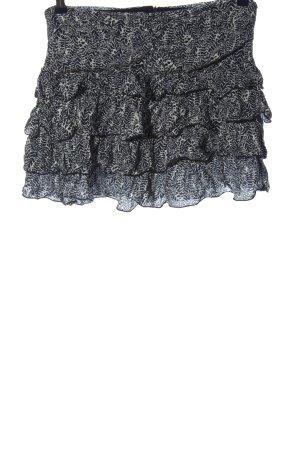 Pimkie Minirock schwarz-weiß Allover-Druck Casual-Look