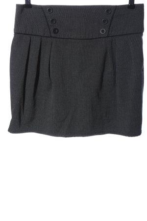 Pimkie Minirock hellgrau-schwarz abstraktes Muster Casual-Look