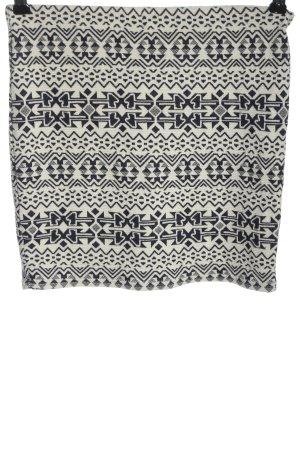 Pimkie Minirock weiß-schwarz grafisches Muster Casual-Look