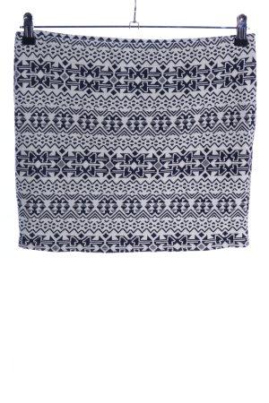 Pimkie Minirock schwarz-weiß grafisches Muster Casual-Look