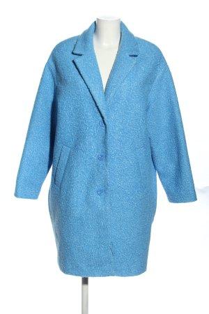 Pimkie Oversized Mantel blau meliert Casual-Look