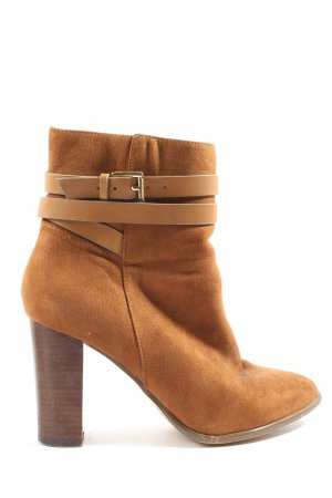 Pimkie Zipper Booties brown business style