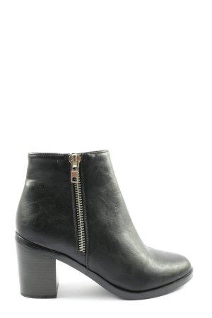 Pimkie Reißverschluss-Stiefeletten schwarz Casual-Look