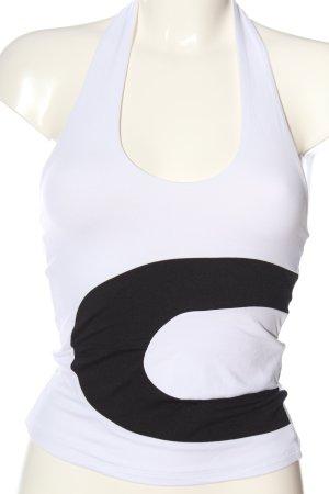 Pimkie Rugloze top wit-zwart casual uitstraling