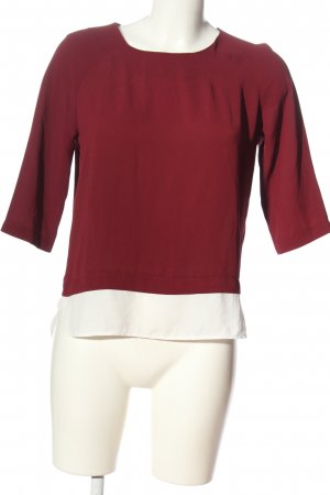 Pimkie Schlupf-Bluse rot-weiß Business-Look