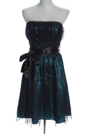 Pimkie schulterfreies Kleid grün Glitzer-Optik
