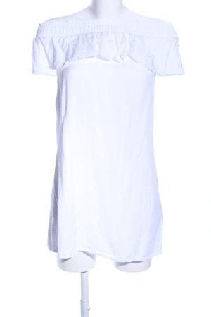 Pimkie schulterfreies Kleid weiß Casual-Look