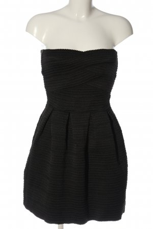 Pimkie Off-The-Shoulder Dress black striped pattern casual look