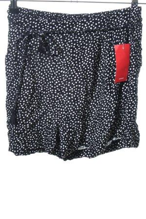 Pimkie Shorts schwarz-weiß Punktemuster Casual-Look