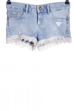 Pimkie Shorts blau-weiß Casual-Look