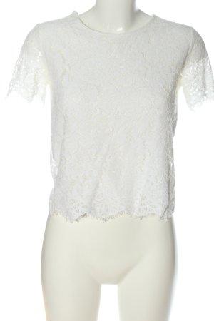 Pimkie Koronkowa bluzka biały W stylu casual