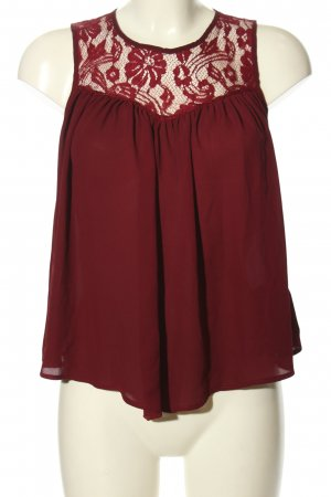 Pimkie Lace Blouse red business style