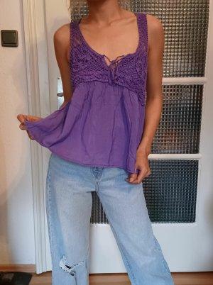 Pimkie Blusa senza maniche blu-viola-viola-grigio