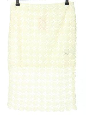Pimkie Falda de encaje blanco puro look casual
