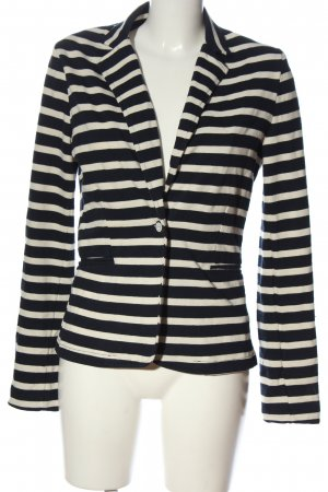 Pimkie Knitted Blazer black-natural white striped pattern casual look