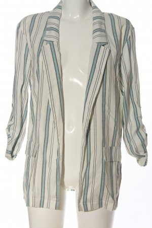 Pimkie Knitted Blazer white-turquoise allover print casual look