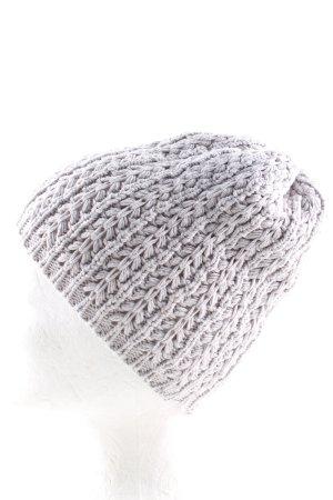Pimkie Sombrero de punto gris claro punto trenzado look casual