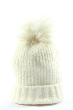 Pimkie Chapeau en tricot blanc style décontracté