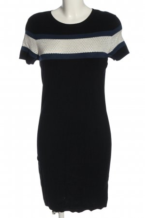Pimkie Strickkleid schwarz-wollweiß Streifenmuster Casual-Look