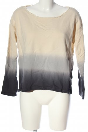 Pimkie Sweatshirt creme-schwarz Farbverlauf Casual-Look