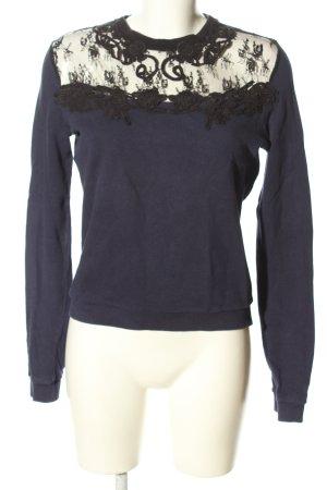 Pimkie Sweatshirt lila-schwarz Casual-Look