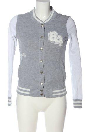 Pimkie Sweatshirt hellgrau-weiß meliert sportlicher Stil